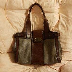 Fossil leather bag purse